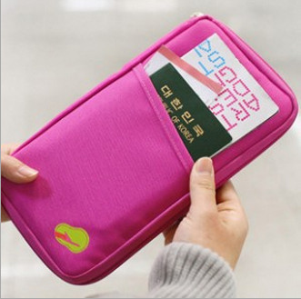 2015 New Women Men Passport Credit Card ID Card Cash Holder Organizer Bag Wallet Good Trip