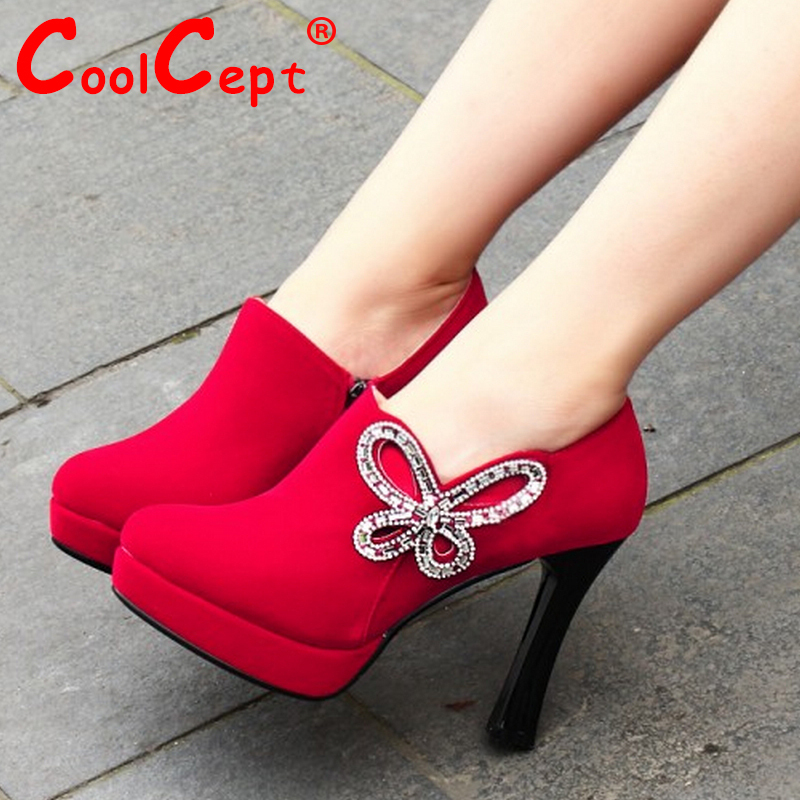 CooLcept free shipping high heel shoes platform women sexy footwear fashion female pumps P14707 EUR size 34-39<br><br>Aliexpress