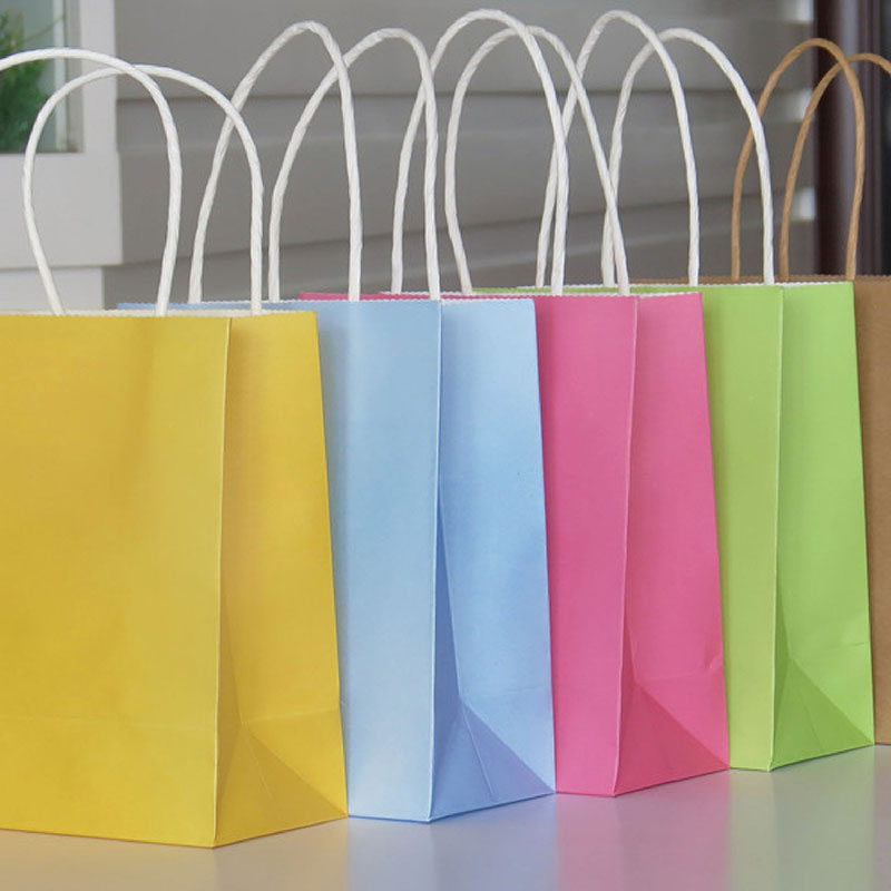 Vogue Mini/Small/Jumbo Party Bags Kraft Paper Gift Bag With Handles Recyclable Loot Bag High Quality #80695(China (Mainland))