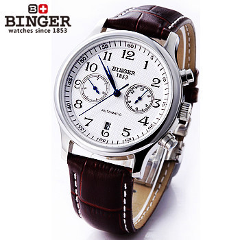 Valuable Mens Stainless Steel Case Analog Automatic Mechanical Watch White Dial Sports Watches Auto Date Big Digital Wristwatch<br><br>Aliexpress