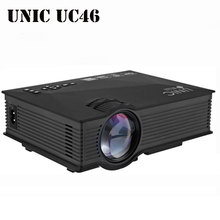Unic UC46 Wireless WIFI Mini Portable Projector 1200 Lumen 800 x 480 Full HD LED Video Home Cinema Support Miracast DLNA Airplay(China (Mainland))