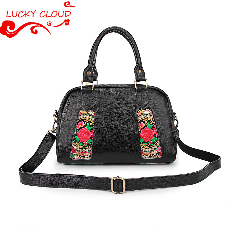 Ethnic embroidery genuine leather handbags 2015 vintage shoulder crossbody bags for women laptop bag sac luxury de marques<br><br>Aliexpress
