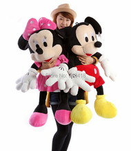 "27"",50pairs=set, Big Mickey Mouse/Minnie Mouse plush toys,Christmas gift,toys for girls,birthday gift ,san-x gift  Free Shipping(China (Mainland))"