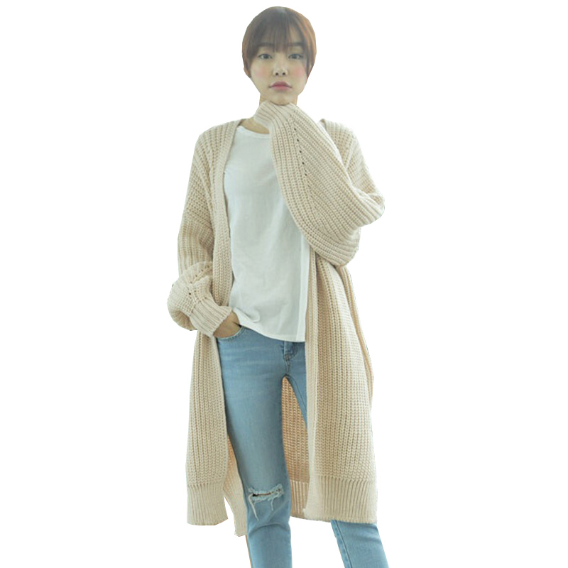 Gilet Femme Manche Longue 2015 Pull Femme Long Cardigan Women Korean Oversized Sweater Winter Autumn Ugly Christmas Cardigans