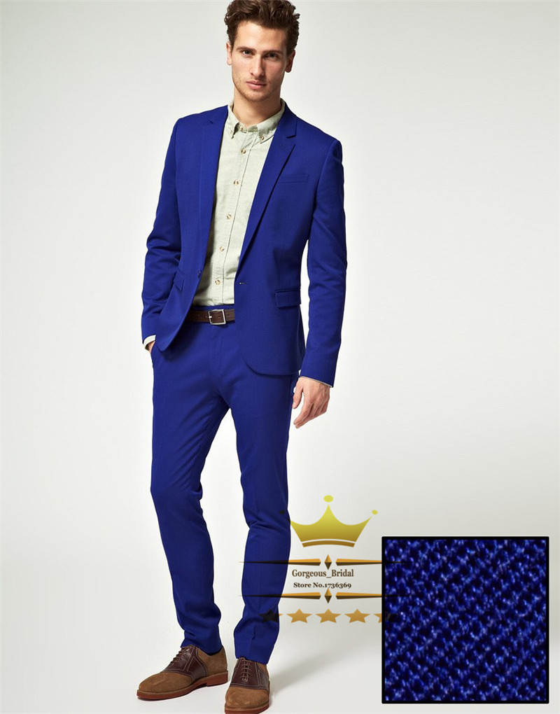 royal blue dress pants for men - Pi Pants