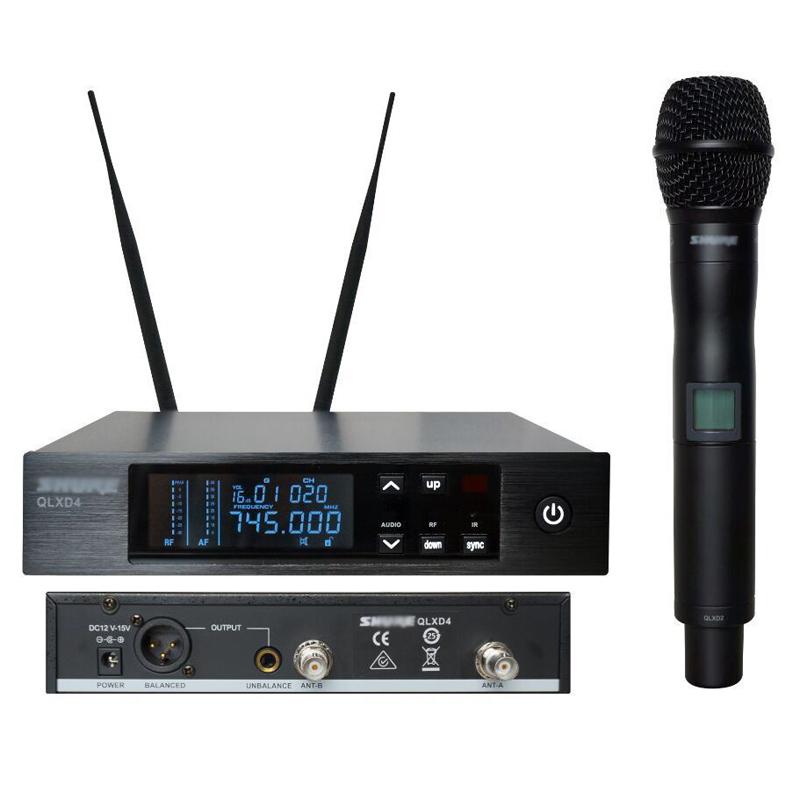 Top Quality! QLXD24 / QLXD2 QLXD4 Cordless MIC True Diversity Digital UHF Professional Wireless Handheld Microphone System(China (Mainland))