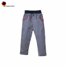 2015 New Children Clothing Autumn Spring Boys Girls Fashion  Classical  Plaid    Casual  Cotton Kids  Pants(China (Mainland))