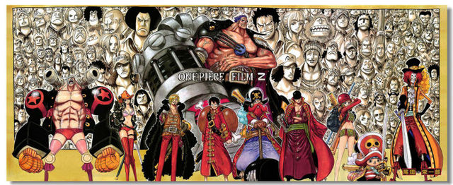 ONE PIECE Z OP The Wanted Silk Wall Poster 78x32,60x24,30x12 inch Big All Cast Comic Anime New World Luffy Film Movie (369)