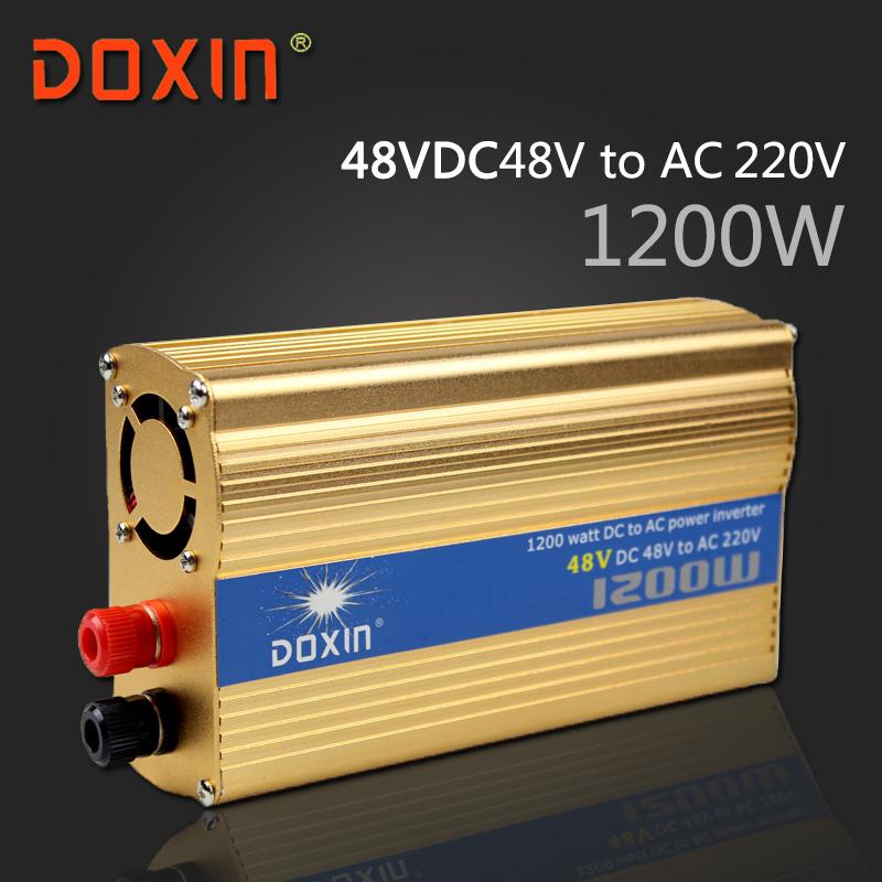DC 48V to AC 220V 1200W Watt W Auto Car Solar Power Inverter Universal Socket DC to AC inverter DOXIN ST-N046(China (Mainland))