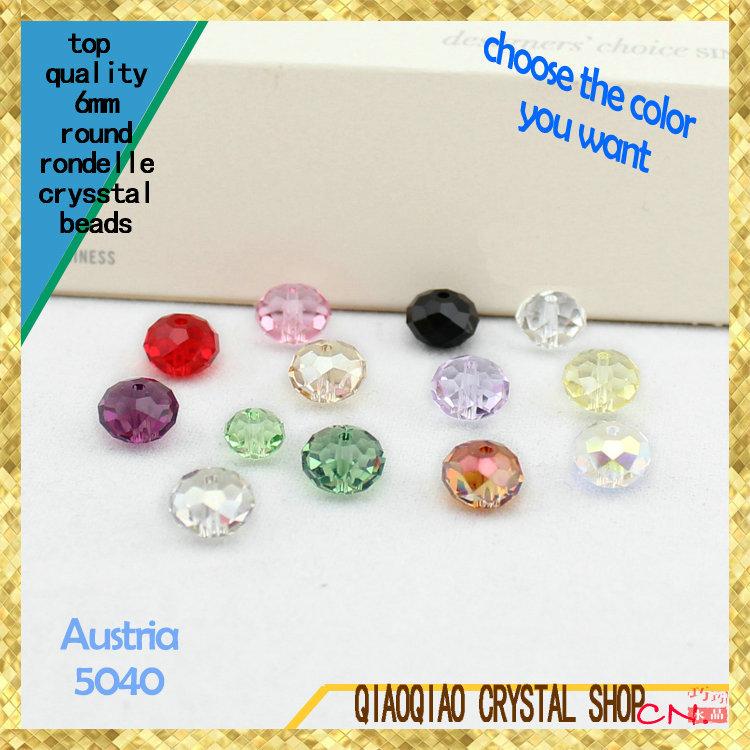 QiaoQiao crystal 5 6 5040 DIY facted 5040 charm bead TOP quality