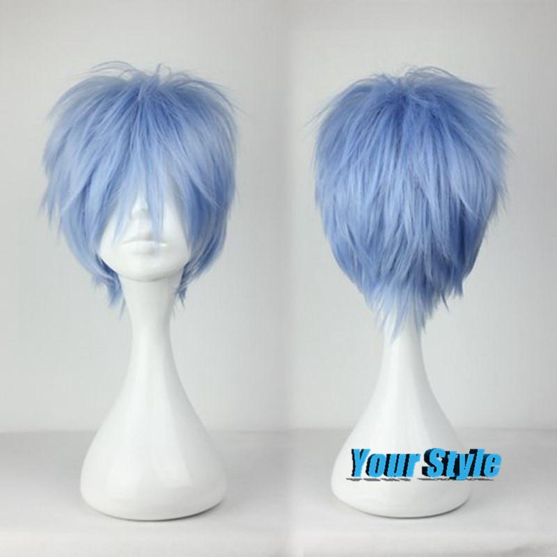 30cm Cute Short Layered Haircut Hairstyles Blue Male Wigs Synthtic Hair Kuroko No Basuke Basket Kuroko Tetsuya Cosplay Anime<br><br>Aliexpress