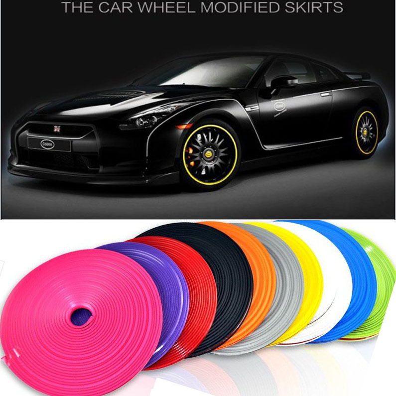 11 Color 7M/ Roll 2015 New Styling IPA Rimblades Car Vehicle Color Wheel Rims Protector Tire Guard Line Rubber Moulding Trim(China (Mainland))