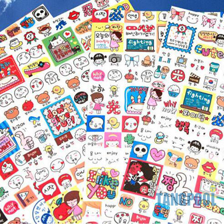 8 Sheets/Set Kawaii Cat Deco Diary Stickers Waterproof Post It Scrapbooking Paper Stickers Memo Pad Free Shipping(China (Mainland))
