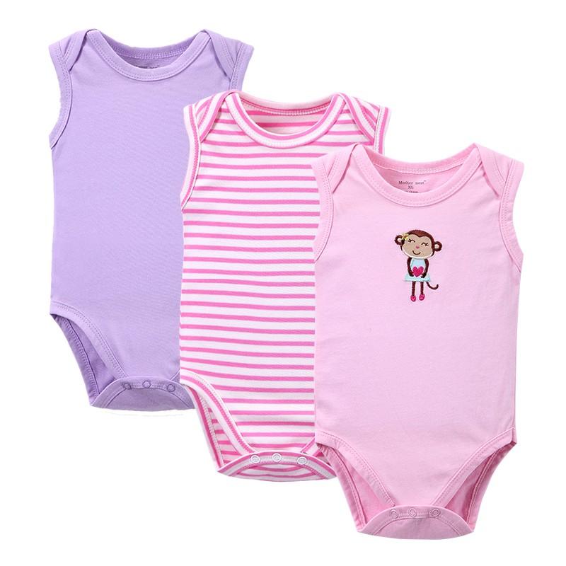 Solid Sleeveless Bodysuit Baby Clothing Cool Baby Girls Boys Similar Original Suit Set Body jumpsuit Summer Style
