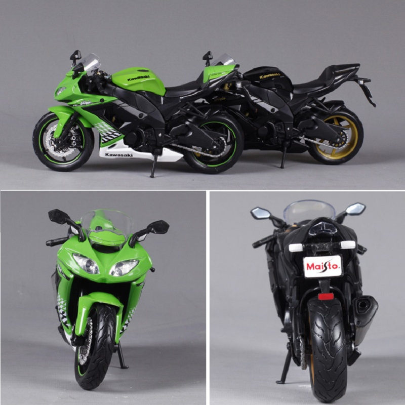 Maisto 1:12 Motorcycle models For Kawasaki ZX-10R race car Diecast motorbike metal models kids toys for boys