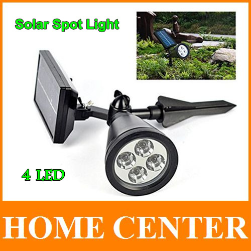 4LED Solar Light Sensor Solar Spot Light Outdoor Garden Landscape Lawn Yard Path Spot decor Lights Lamp(China (Mainland))