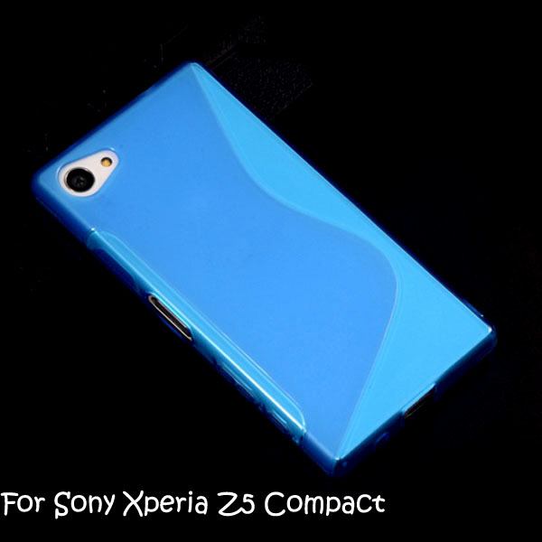 S Line Wave TPU Gel Case Soft Cover Case For Sony Xperia Z5 Compact Z5 Mini 100pcs/lot
