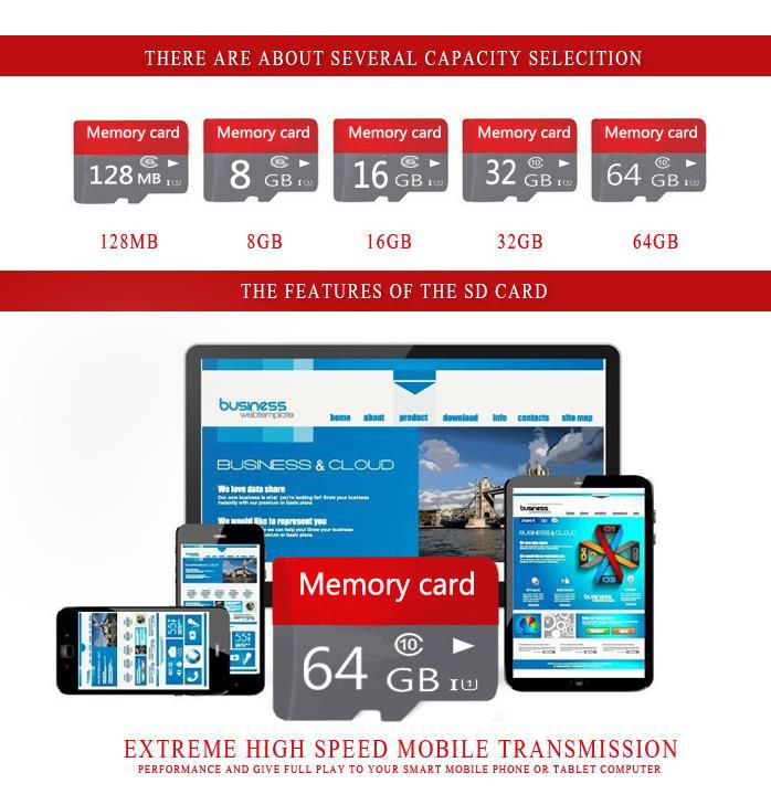 Hot sale class 10 32GB 64GB 128GB Micro TF card+ Adapter Memory card Micro Memory card 32G Memory cards 8G 16GB T1