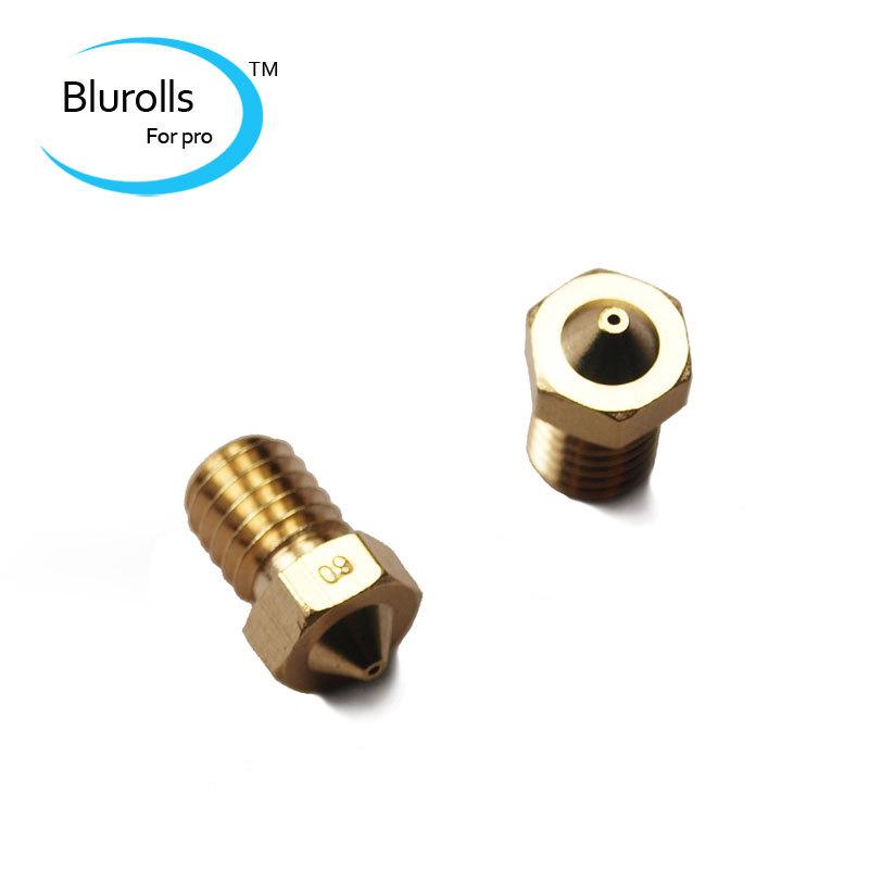 3d printer parts diy reprap e3d v6 brass nozzle 0 6mm1 75mm filament e3d v6 hotend