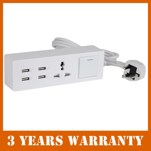 UK Plug - 4 USB port charger power strip surge protector for iPad Air Mini iPhone 5S 5C 4S(China (Mainland))