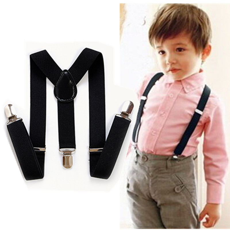 BD001-S size Cool 36 colors adjustable baby Suspenders Y -back 3 clip elastic kids Braces for 1-8 years boys free shipping