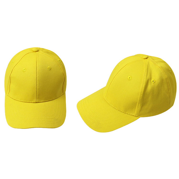 FGGS Kids Plain Baseball Cap Girls Boys Junior Childrens Hat Summer-Yellow(China (Mainland))