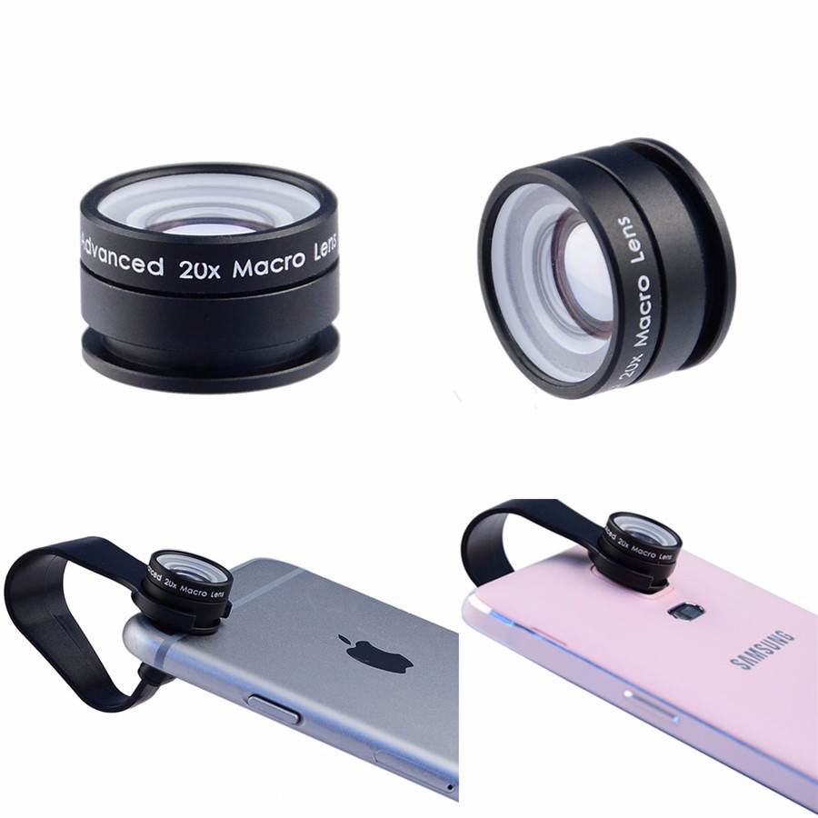 2016 Universal Clip 20X Macro Lens Mobile Phone Camera Lens Optical Lenses For iphone 5s 6s Samsung S7 S7 Edge Huawei Xiaomi LG