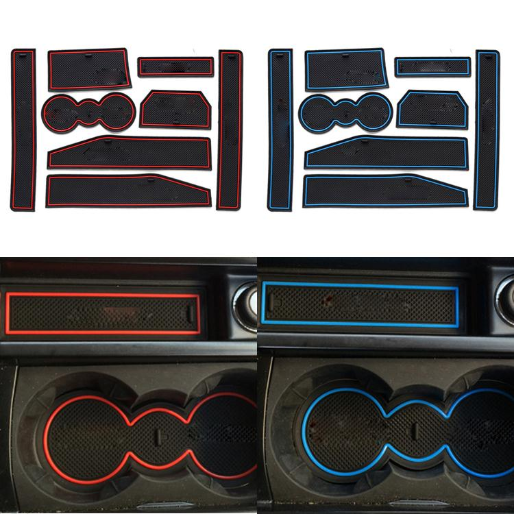New 8 Pcs/Set Car Styling For Land Rover Evoque Waterproof Latex Anti Slip Gate Slot Pad Mat Pad With Logo Car-cover(China (Mainland))