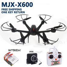 Mjx X600 RC helicopter drone quadcopter Wifi FPV 720P HD C4008 Camera ufo 6-axis 3D Roll free shipping add 2pcs battery AS GIFT