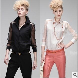 Женские блузки и Рубашки winterEuropean блузки и рубашки