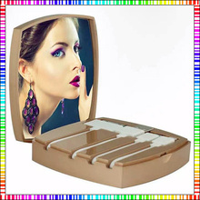 freeship 5000mAh CC makeup Mirror Power Bank For Iphone6 5s IOS Android Battery Charger with 4 Cables Inside(China (Mainland))