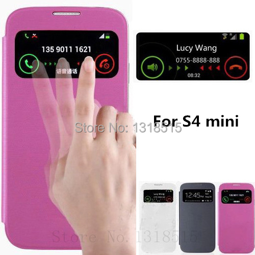 View Window Smart Sleep Wake UP Function Case Samsung Galaxy S4 mini i9190 Battery Housing Back Cover - My Miss L Trading Co.,Ltd store