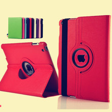 New case cover For Apple iPad 2 iPad 3 iPad 4 Pu Leather Flip Case Smart Stand 360 Rotating Tablet Case Cover Bag + pen + Film(China (Mainland))