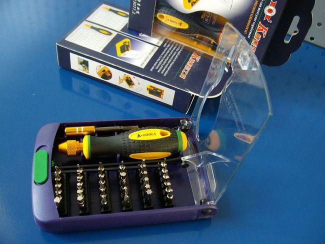 SunRed high quality xbox 360 controller Cr-V bits torx phillips hex triangular 38 in 1 pentalobe screwdriver NO.892_A freeship(China (Mainland))