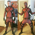 Hot Marvel Halloween Cosplay Full Body Deadpool Costume Adult Digital Print Lycra Costume Halloween Costumes For
