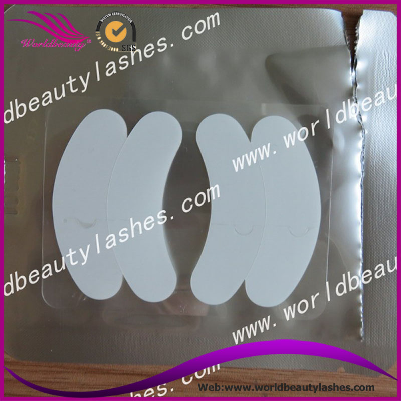 Free shipping Top quality eyelash extension 4pcs per pack silicone eye pads 50 package/100 pairs