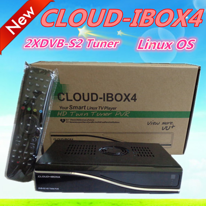 cloud ibox4 Digital Satellite Receiver hd Twin Tuner dvb-s2 Linux OS cloud ibox 4 digital decoder free DHL shipping(China (Mainland))