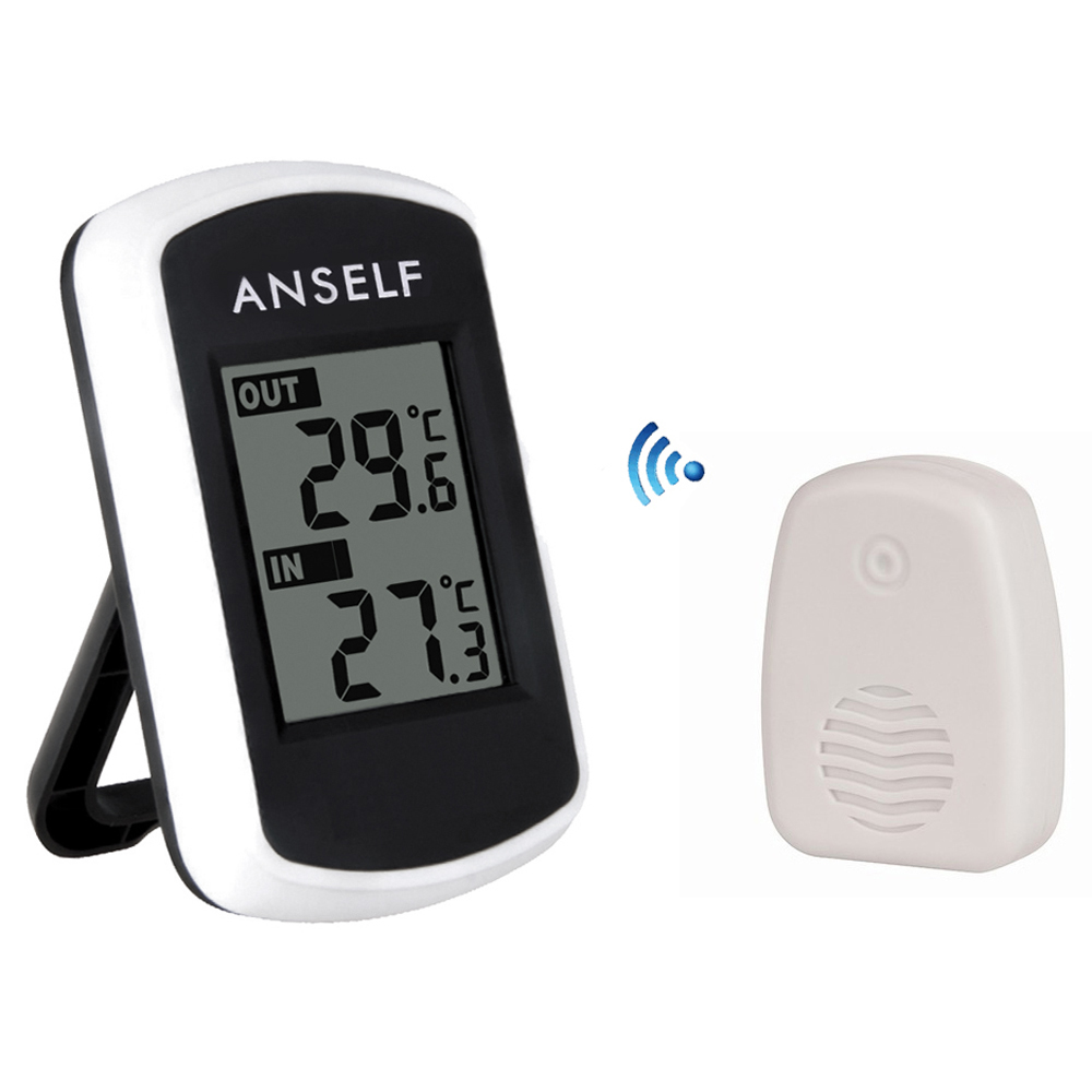 2016 Digital LCD Wireless Thermometer Hygrometer Electronic Temperature Humidity Meter Weather Station Indoor Outdoor Tester(China (Mainland))