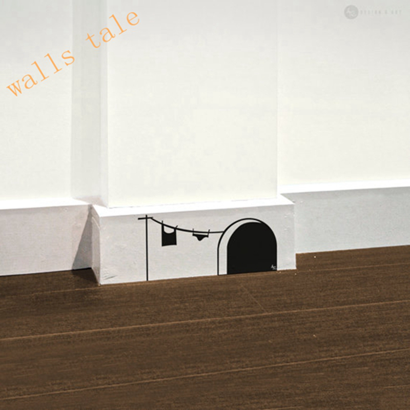 Free shipping new cute cartoon mouse home sticker wall for Stickers de pared