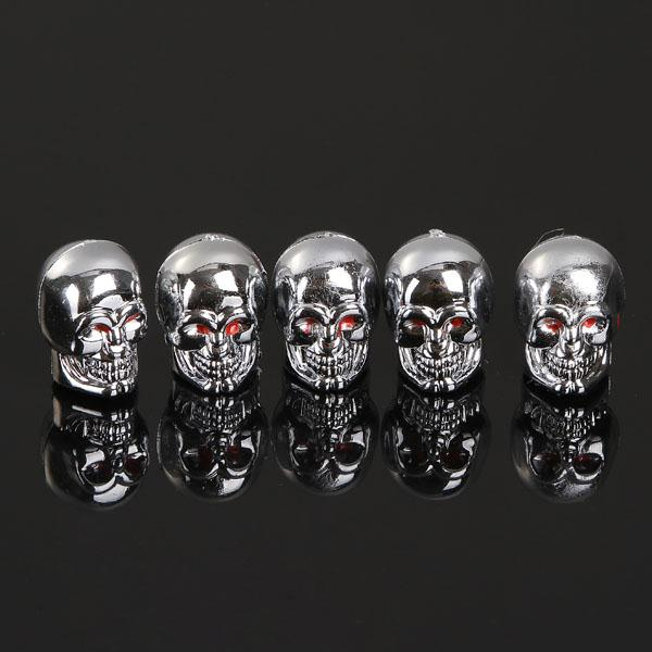 5pcs Skull Style Bike Car Motors Motorcycle Tire Tyre Valve Dust wheel Cap Cover wholesales