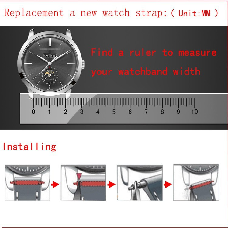 Free Shipping Stainless steel Watchband metal strap butterfly buckle silver black width18mm 20mm 21mm 22mm For Men Hours FASHION