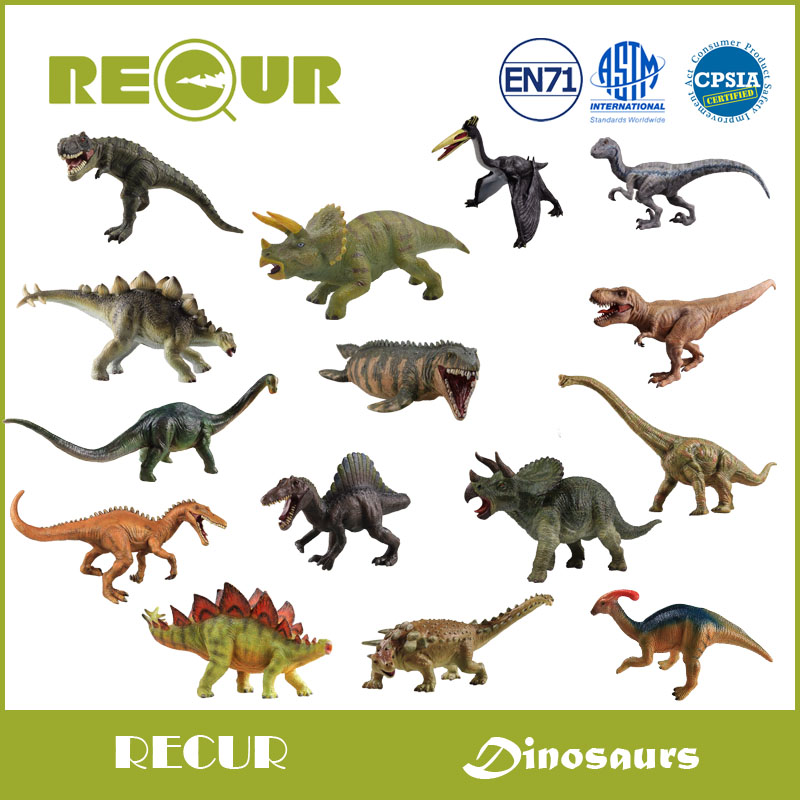 Recur Original Design High Quality Jurassic Dinosaur Model Hand Painted PVC Animal Figures Soft Toys Gift Collection For Kids(China (Mainland))