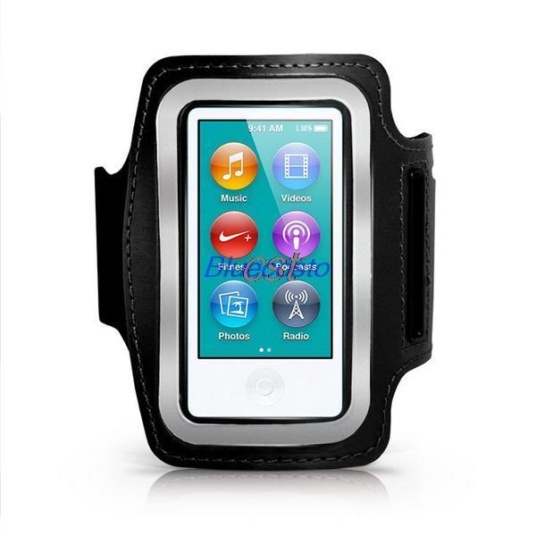 Retail 1pcs black Sports Running Gym Soft Armband Cover Case for Apple iPod Nano 7th Gen Wholesale