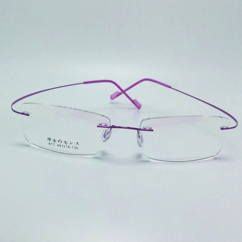 2016 new memory titanium alloy brand glasses frame