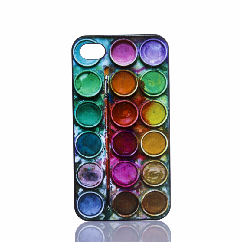 Phone Case Cover iPhone 6 6s 4.7 inch 5 5s 4 4s Beautiful Colored Paintbox Patterns Hard Plastic Mobile phone bags Back - Case-Worlds store