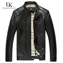 Dk 2013 genuine leather clothing male stand collar sheepskin spring and autumn outerwear b casual DK122