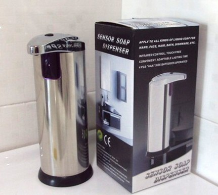 Hot new Kitchen Bathroom Automatic stainless steel Sensor Soap & Sanitizer Dispenser Touch-free AF186(China (Mainland))