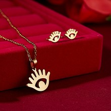 RINHOO פרח זהב צבע נירוסטה סטים לנשים Emoji פרפר דגי עצם שרשרת עגילי תכשיטי סט תכשיטי חתונה(China)