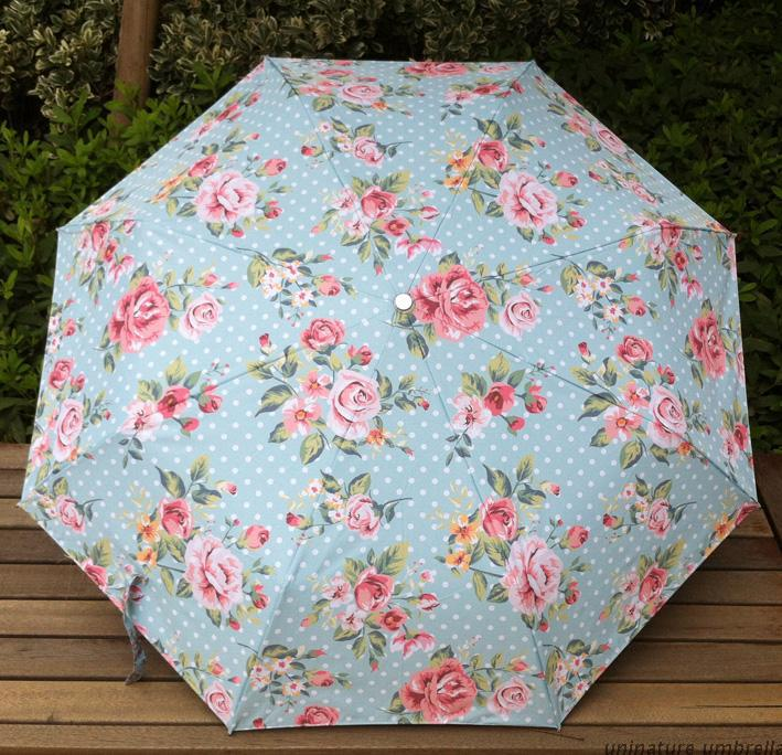 Oil Painting Umbrella 2015 Chinese New Pastoralism Beach Umbrella 3 Folding UV Protection Sun And Rain paraguas colores Umbrella(China (Mainland))