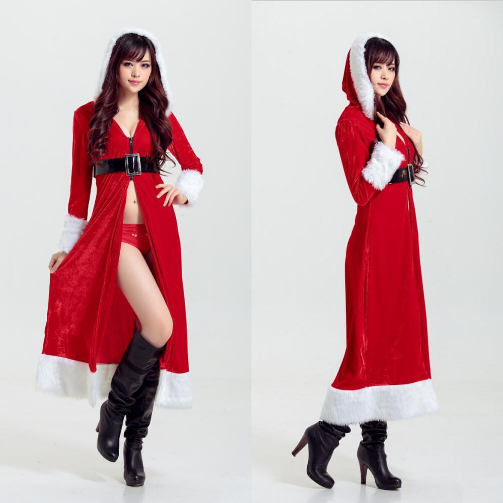 Miss Ladies Sexy Santa Christmas Xmas Mrs Cosplay Fancy Dress lingerie Costume